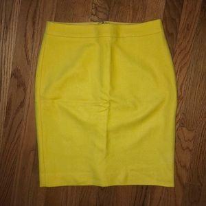JCrew gold yellow wool skirt